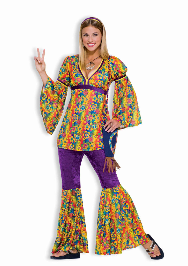 Womens Halloween Costumes Hippie Gal Costume - HalloweenCostumes4U.com - Adult Costumes