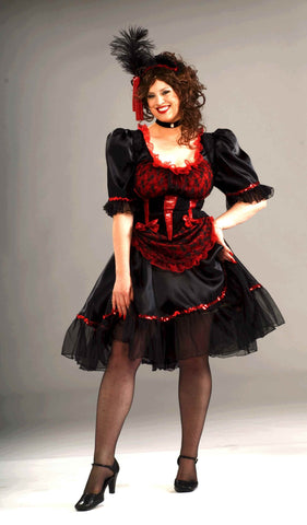 Plus Size Costumes Saloon Girl Halloween Costume Womens - HalloweenCostumes4U.com - Adult Costumes
