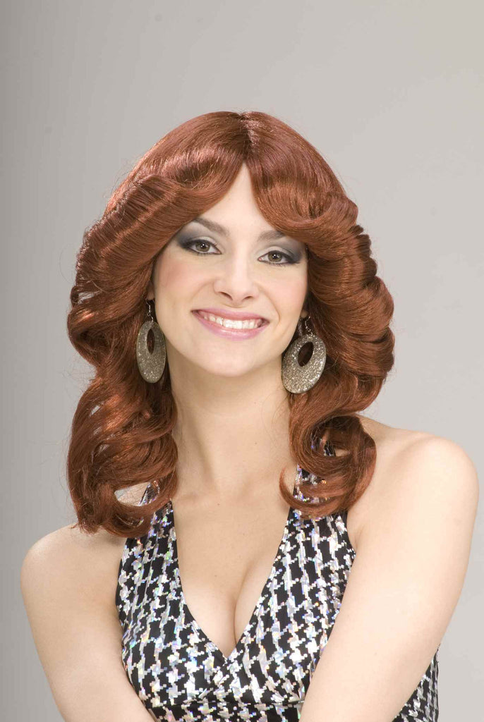 Halloween Costumes Wigs 70's Feathered Wig Redhead - HalloweenCostumes4U.com - Accessories
