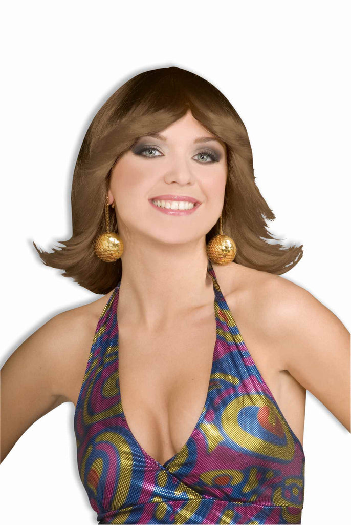 Wig-70's Disco Flip-Brown