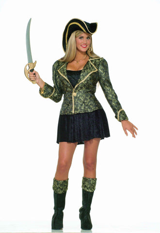 Womens Halloween Costumes Uptown Pirate Costume - HalloweenCostumes4U.com - Adult Costumes