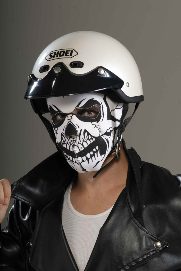 Halloween Masks Skull Biker Costume Mask - HalloweenCostumes4U.com - Accessories
