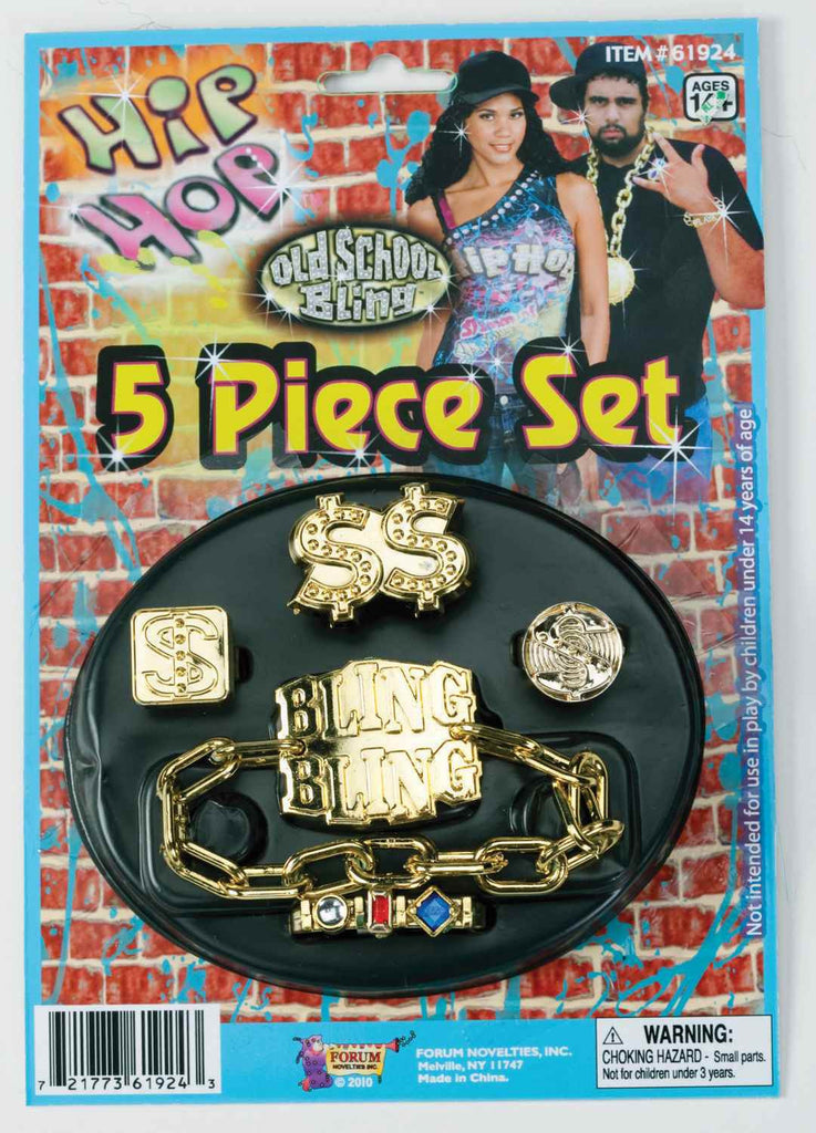 Costume Jewelry Bling Jewelry Set 5 Pc - HalloweenCostumes4U.com - Accessories
