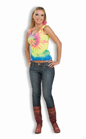 Hippie Halloween Costumes Hippie Tank Top Womens - HalloweenCostumes4U.com - Adult Costumes