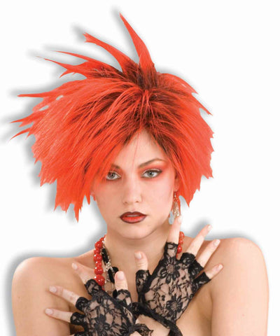 Sexy Women's Punk Wigs Red/Black - HalloweenCostumes4U.com - Accessories