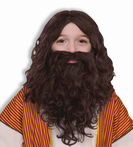 Kids Biblical Beard & Wig Set - HalloweenCostumes4U.com - Accessories