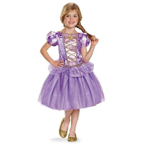 Girls Disney Princess Classic Rapunzel Costume - HalloweenCostumes4U.com - Kids Costumes
