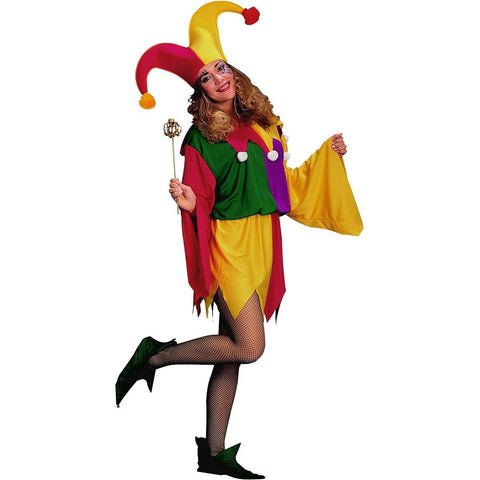 Womens King's Jester Costume - HalloweenCostumes4U.com - Adult Costumes