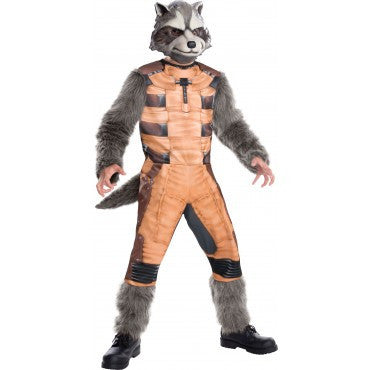 Mens Guardians of the Galaxy Deluxe Rocket Raccoon Costume - HalloweenCostumes4U.com - Adult Costumes