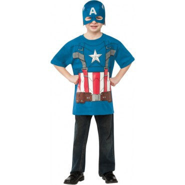 Boys Retro Captain America T-Shirt Set - HalloweenCostumes4U.com - Kids Costumes