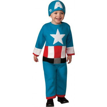 Toddlers Avengers Captain America Costume - HalloweenCostumes4U.com - Infant & Toddler Costumes