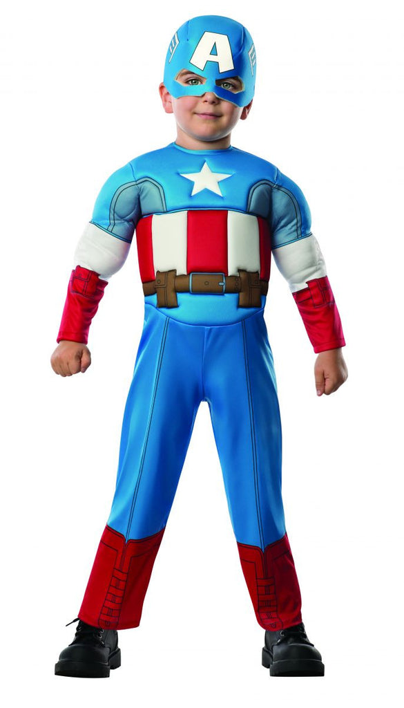 Toddlers Avengers Deluxe Captain America Costume