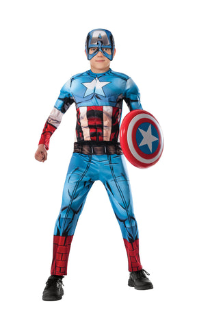 Boys Deluxe Captain America Costume