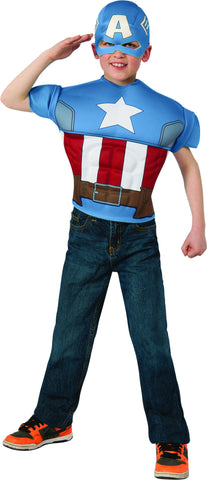 Boys Captain America EVA Muscle Chest Costume Shirt