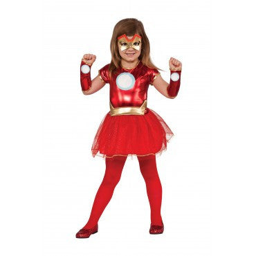 Girls Avengers Iron Man Tutu Costume - HalloweenCostumes4U.com - Kids Costumes