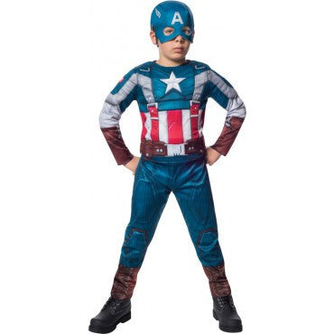Boys Retro Suit Captain America Costume - HalloweenCostumes4U.com - Kids Costumes