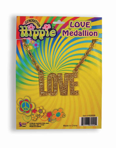 Halloween Costume Hippie Big Love Necklace - HalloweenCostumes4U.com - Accessories