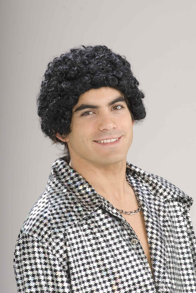 Costume Wigs 70's Guy Wig Curly - HalloweenCostumes4U.com - Accessories