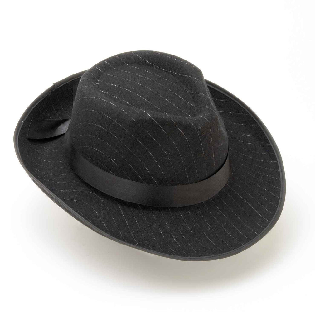 Costume Hats Fedora Costume Hat Pinstripe - HalloweenCostumes4U.com - Accessories