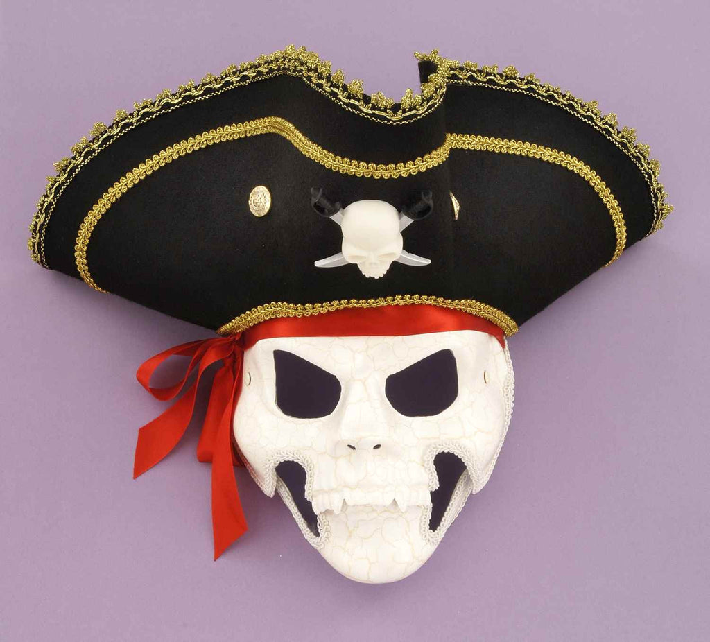 Mask-Pirate Skull W/Moving Jaw