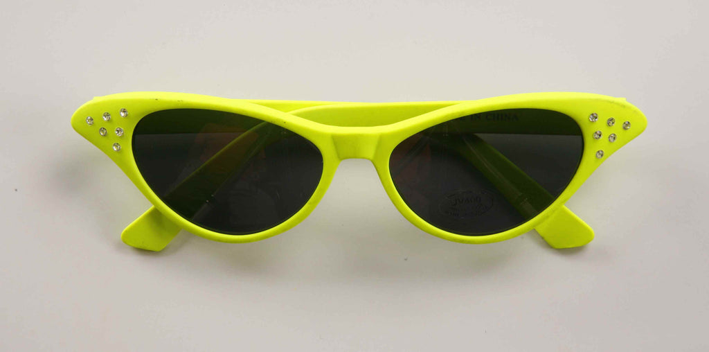 Fifties Gal Yellow Neon Shades - HalloweenCostumes4U.com - Accessories