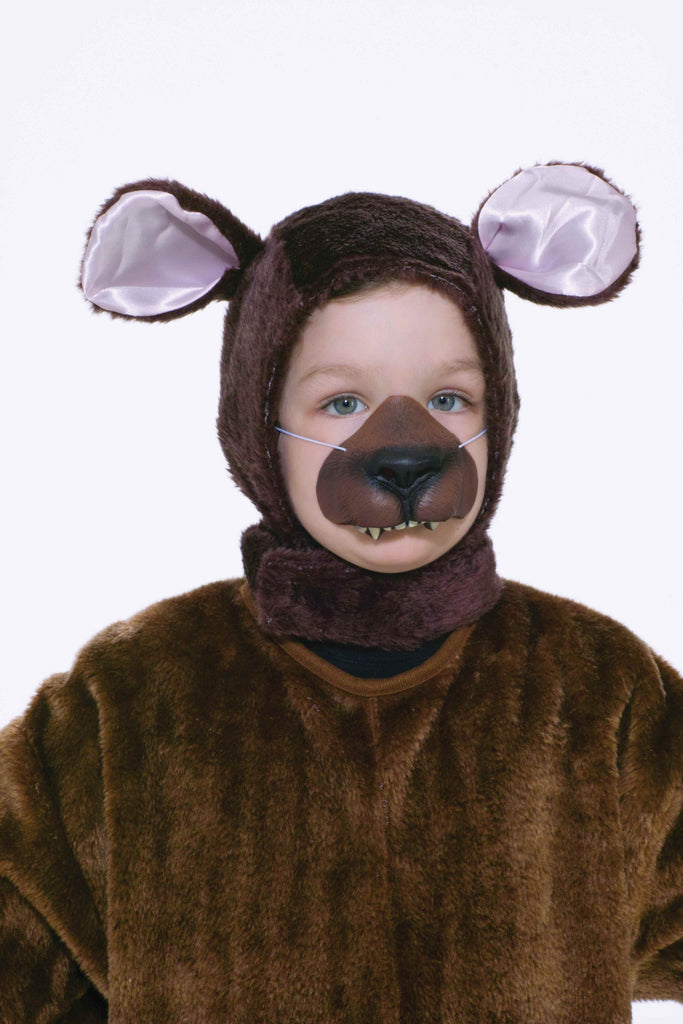 Kids Mask Set Bear Head Cover and Nose