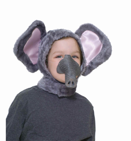 Kids Costume Masks Elephant Head Cover and Nose - HalloweenCostumes4U.com - Accessories