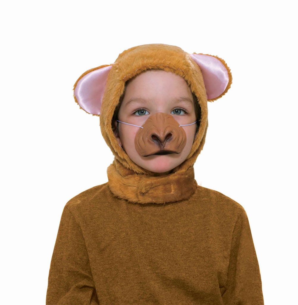 Halloween Masks Kids Monkey Hood and Nose Set - HalloweenCostumes4U.com - Accessories