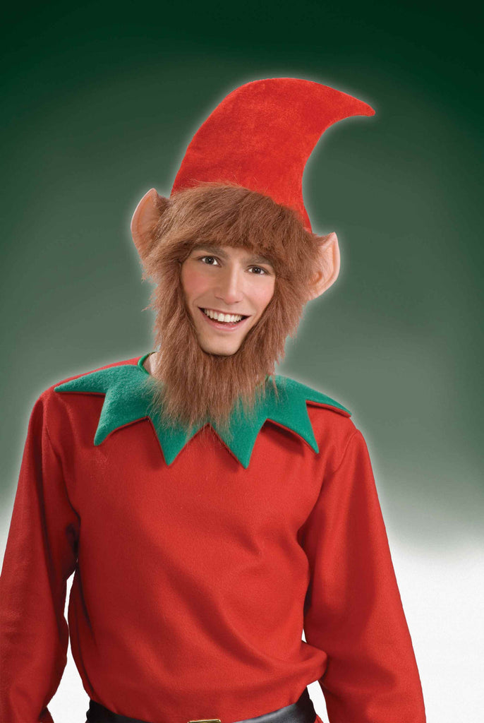 Elf Hats Elf Hat with Ears Hair and Beard - HalloweenCostumes4U.com - Holidays