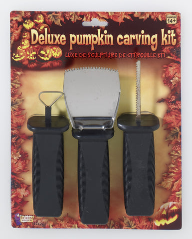 Halloween Pumpkin Carving Kit Deluxe - HalloweenCostumes4U.com - Decorations