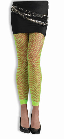 Women's Fishnet Leggings Neon Green - HalloweenCostumes4U.com - Accessories