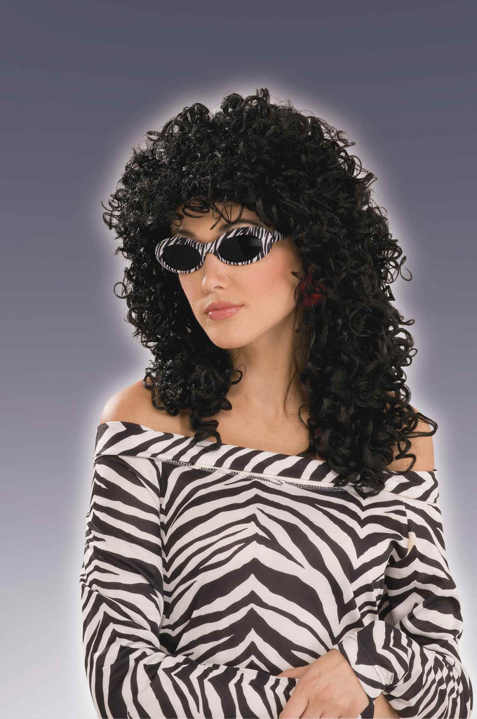 Extra Curly Black Costume Wig - HalloweenCostumes4U.com - Accessories