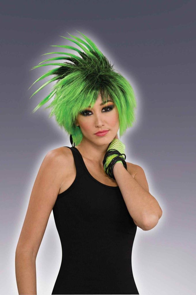Spiked Wig Green/Black