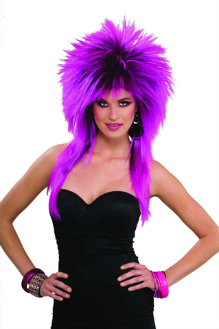 Spiked Wigs Purple - HalloweenCostumes4U.com - Accessories