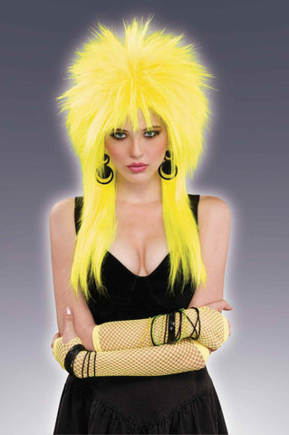 Spiked Wigs Yellow - HalloweenCostumes4U.com - Accessories