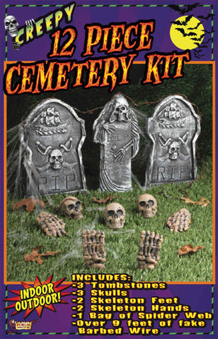 Halloween Cemetery Yard Set - HalloweenCostumes4U.com - Decorations