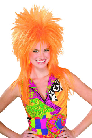 Spiked Wigs Orange - HalloweenCostumes4U.com - Accessories