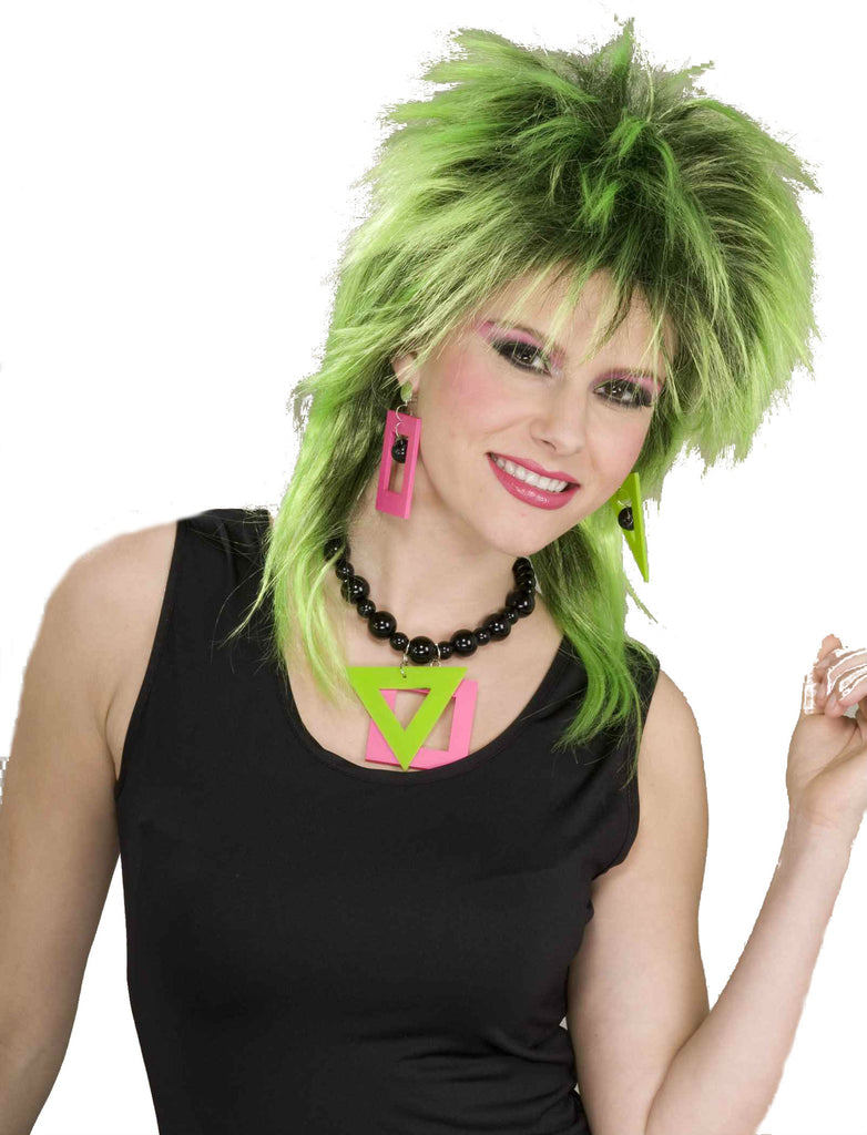 80's Neon Necklace and Earrings Set