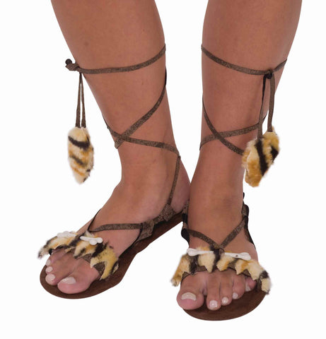 Cave Woman Sandals - HalloweenCostumes4U.com - Accessories