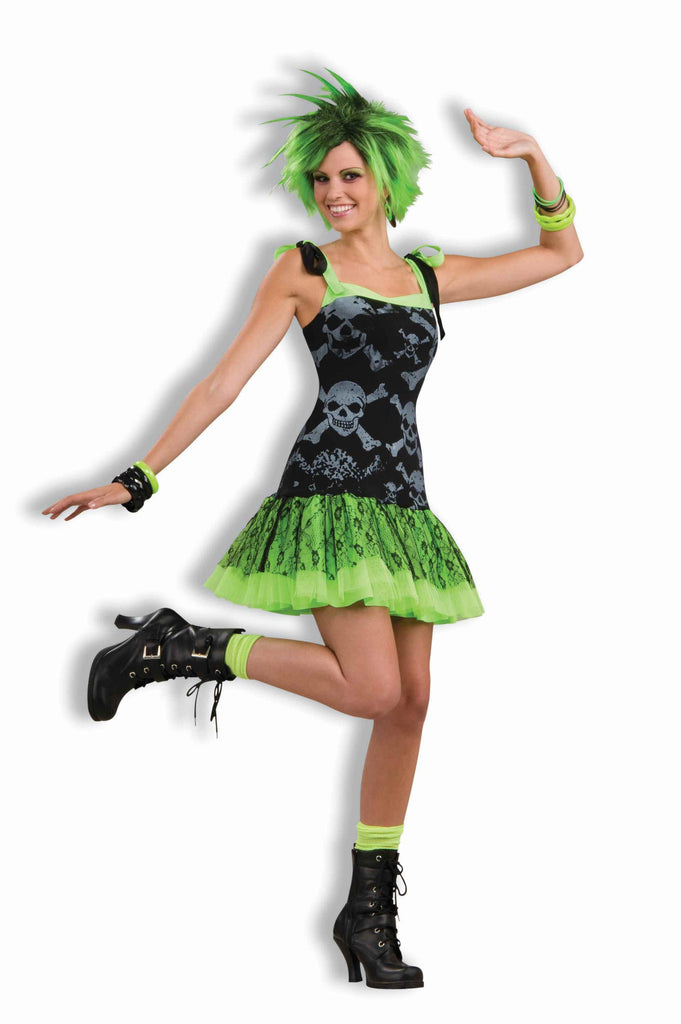 Eighties Goth Rock Girl Costume for Adults
