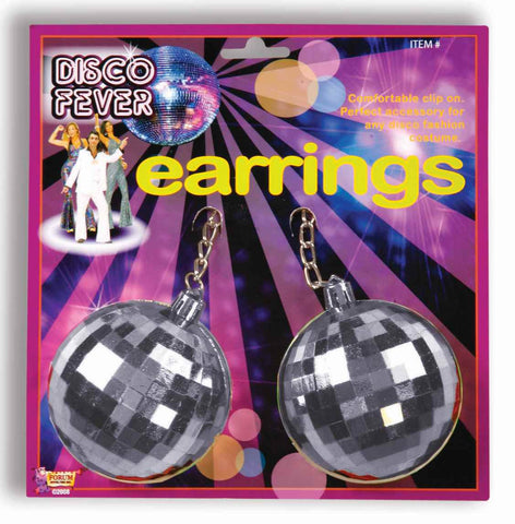 Disco Ball Earrings - HalloweenCostumes4U.com - Accessories