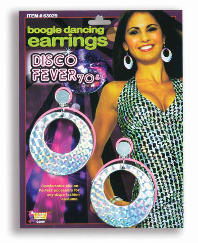 Disco Costume Boogie Dancing Earrings - HalloweenCostumes4U.com - Accessories