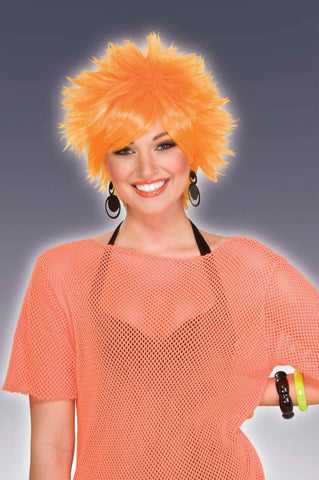 Orange Costume Wigs Short Spikes - HalloweenCostumes4U.com - Accessories
