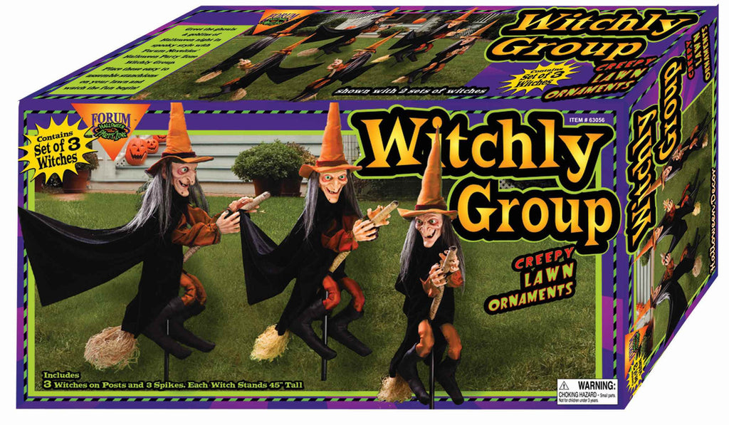 Three Witches Lawn Decoration - HalloweenCostumes4U.com - Decorations
