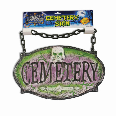 Halloween Cemetery Yard Sign - HalloweenCostumes4U.com - Decorations