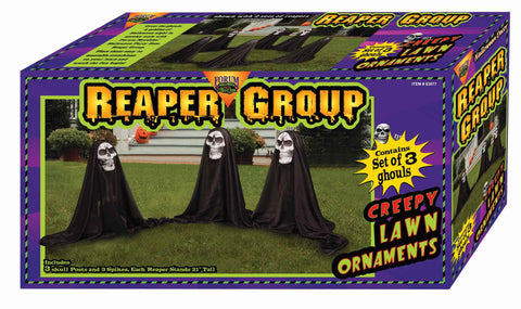 Grim Reapers Yard Decoration 3 - HalloweenCostumes4U.com - Decorations