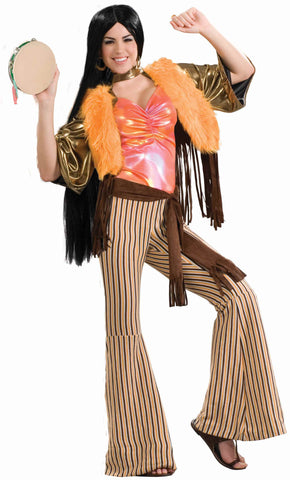 Sixties Folk Singer Woman's Costume - HalloweenCostumes4U.com - Adult Costumes