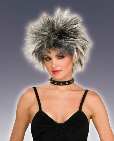 Spiked Wigs Blonde/Black - HalloweenCostumes4U.com - Accessories