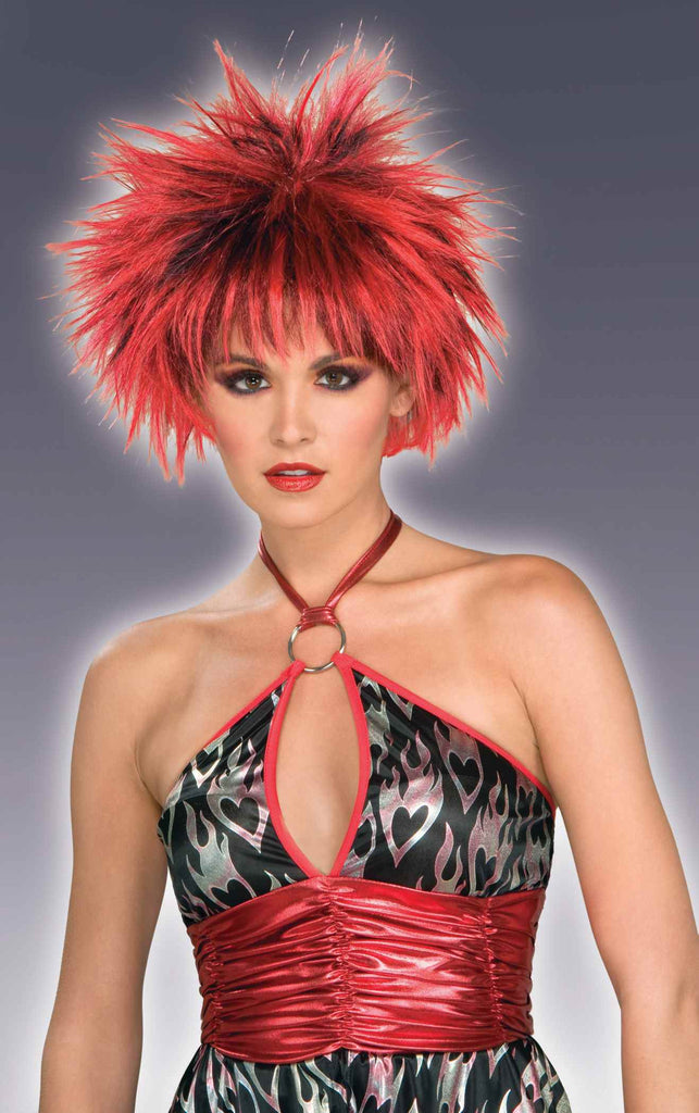 Red/Black Spike Halloween Wig