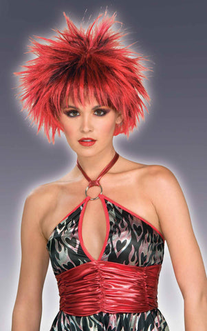 Red/Black Spike Halloween Wig - HalloweenCostumes4U.com - Accessories